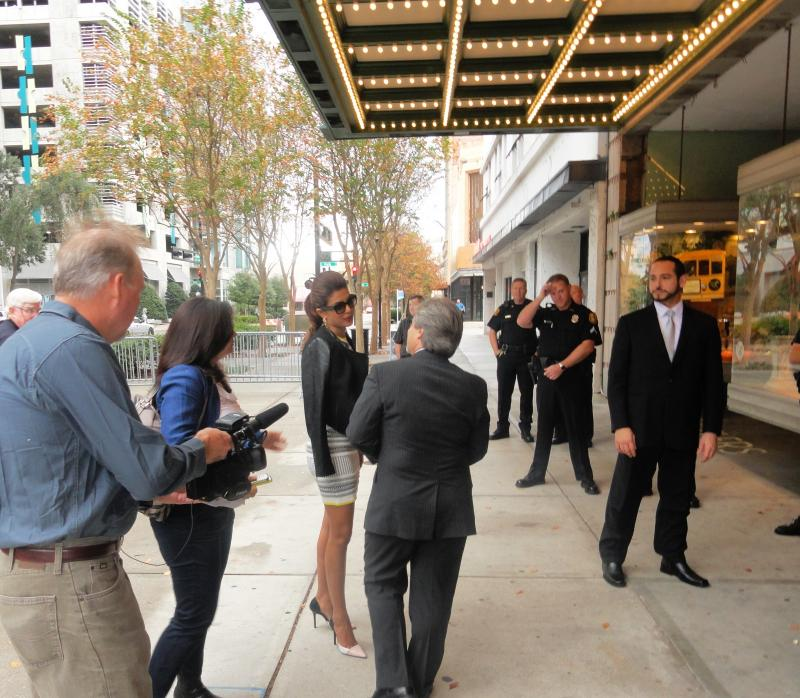Priyanka Chopra enters the Tampa Theatre