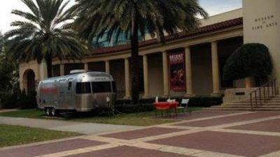 The MobileBooth parked in front of the Museum of Fine Arts on Beach Drive in St. Petersburg.