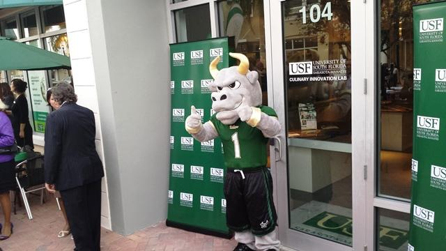 Even Rocky the Bull stopped by to graze at the grand opening of the Lab.