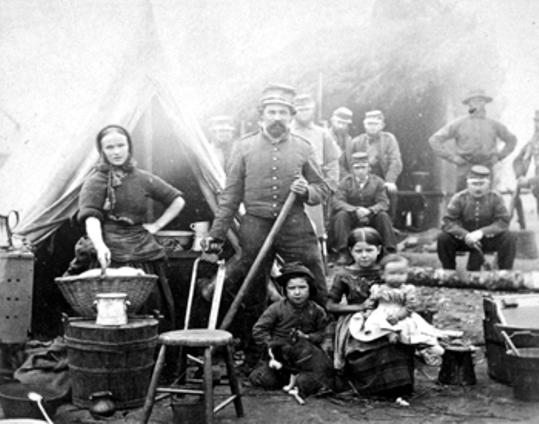 A soldier's family with the 31st Pennsylvania Infantry.