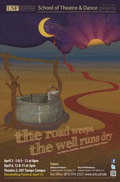 """flier for """"the road weeps, the well runs dry"""""""