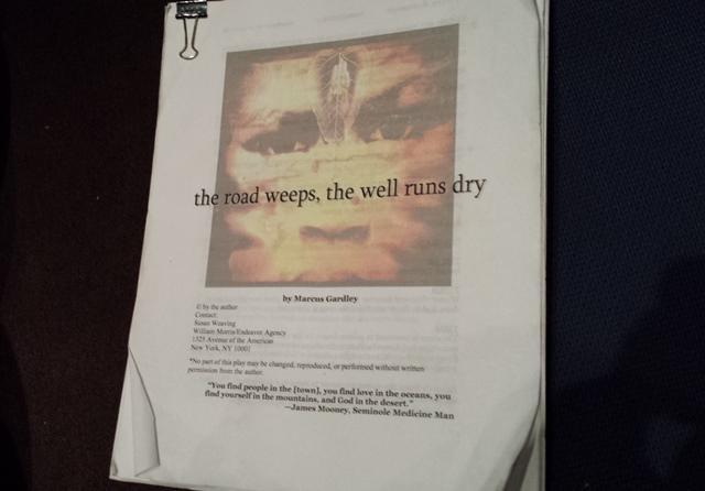 A copy of the play script