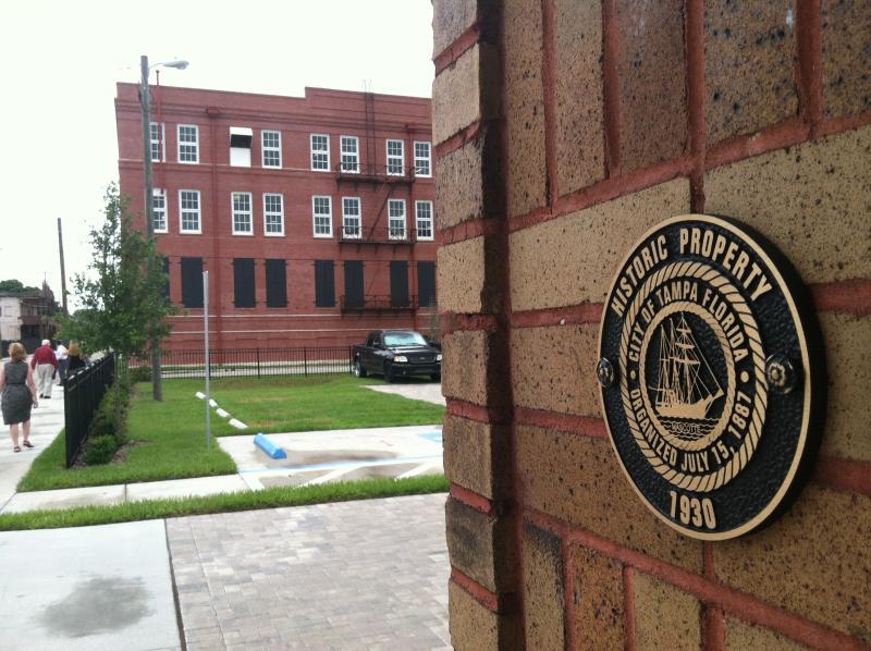 Historic designation in front of the architecture studio