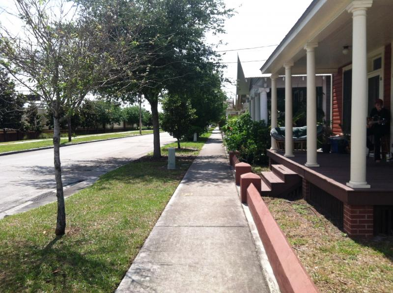The restored neighborhood fronts I-4