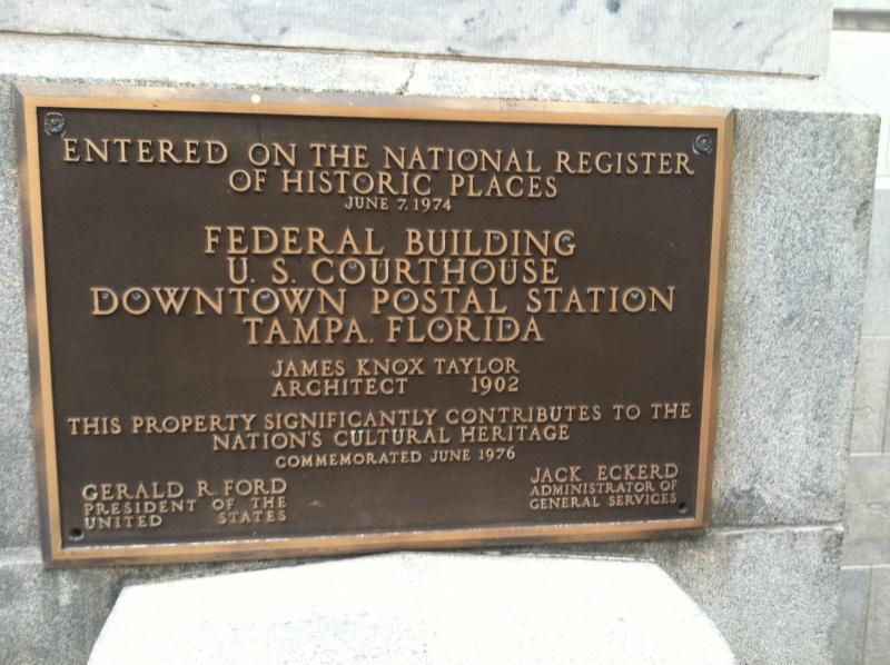 Historic designation plaque