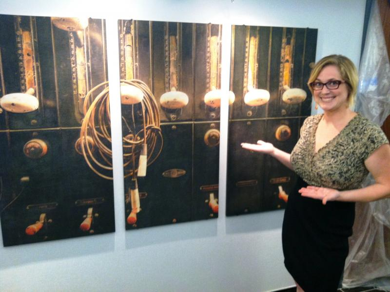 Photographer Amy Martz exhibits one of her works in the lobby