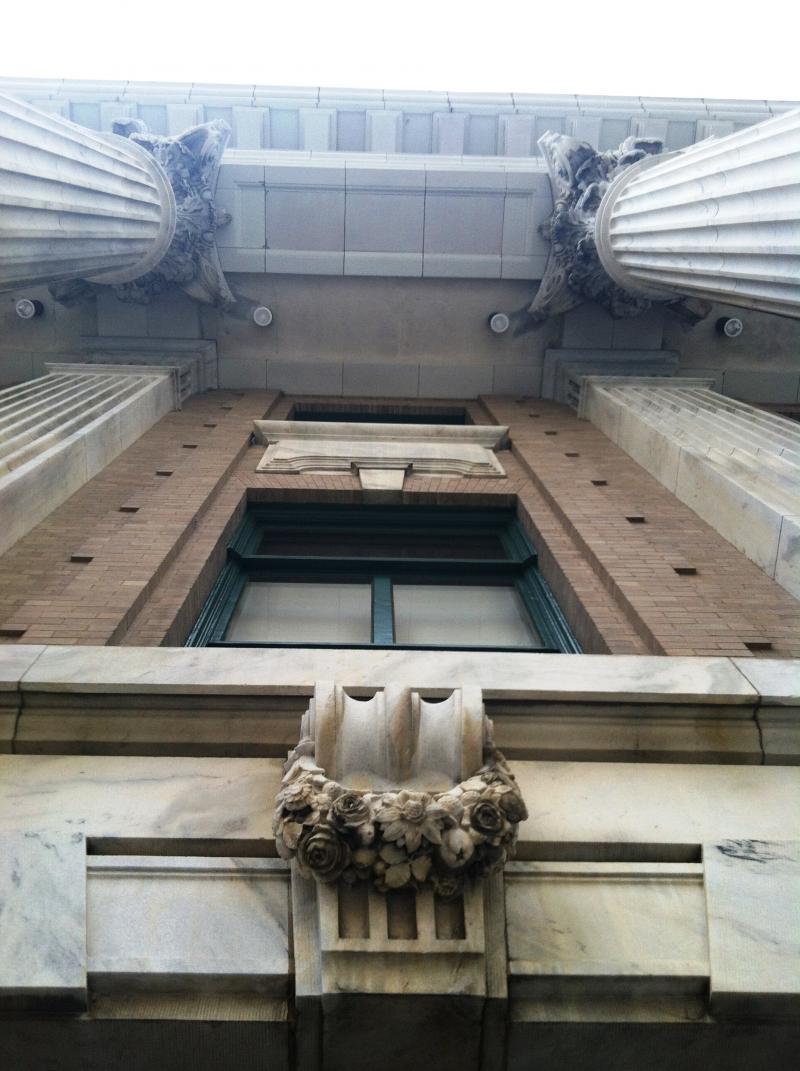 Looking upward from the main entrance