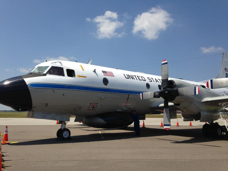 "The P-3 turboprop aircraft nicknamed ""Miss Piggy"" is based at Tampa's MacDill Air Force Base."