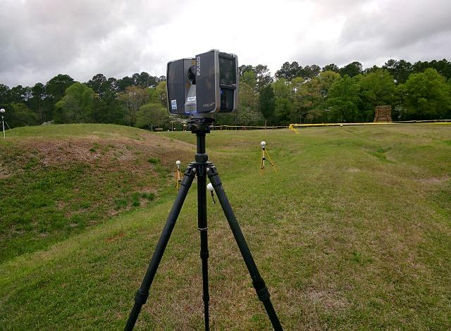 Some of the above-ground scanning done at the Ninety-Six National Historic Site in S.C.