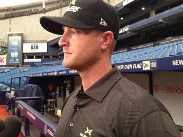 Tampa Bay Rays' pitcher Alex Cobb is endorsing a padded insert for caps for young pitchers.
