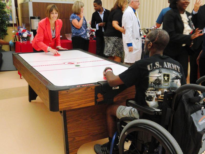 U.S. Rep. Kathy Castor was challenged, and defeated, by a Haley VA patient.