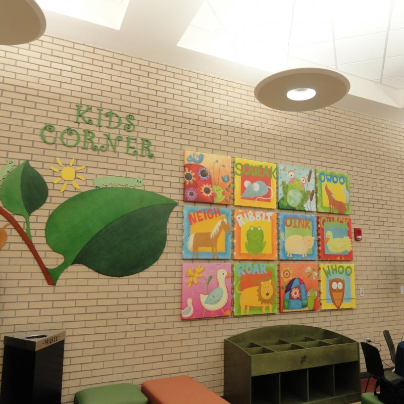"The Day Room is complete with a ""Kids Corner"" for the children of Veterans and Active Duty patients."