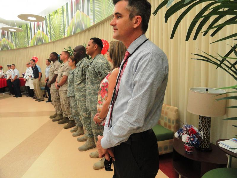 The ceremony was attended by a number of Veterans, Active Duty Members and VA physicians.