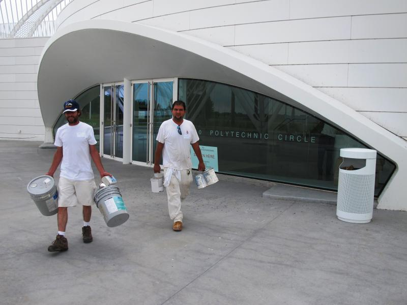 Workers put the finishing touches in before Saturday's grand opening