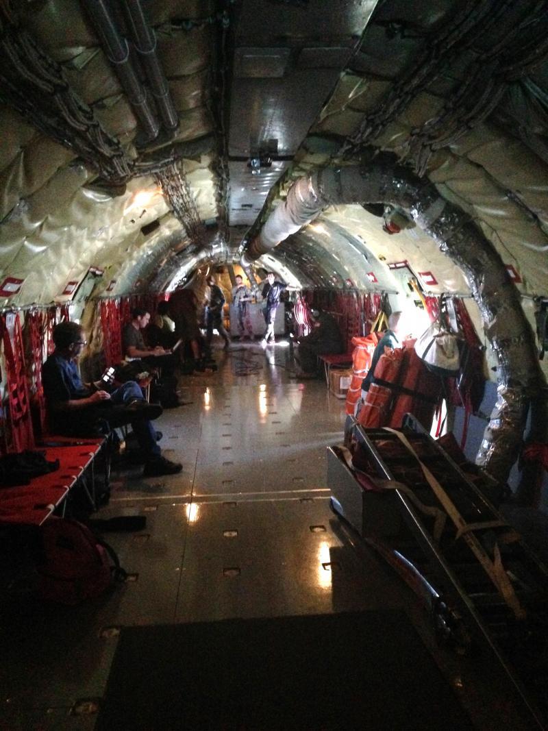Inside the Stratotanker.
