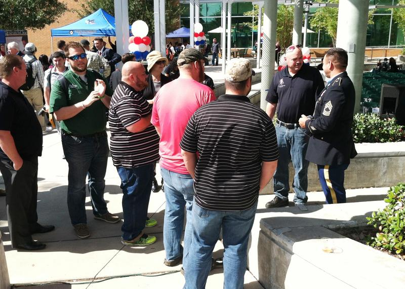 Dozens stood in line to meet Medal of Honor recipient Leroy Petry.