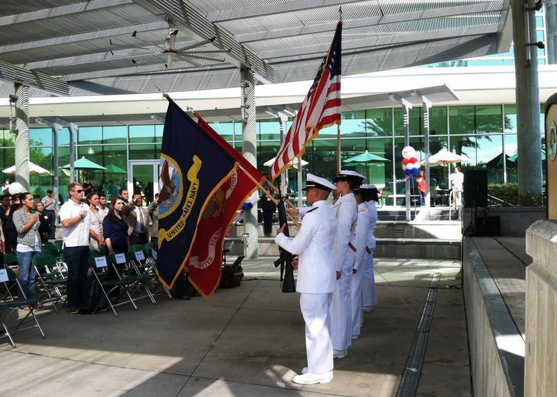 The Color Guard opened the Veterans Day ceremony.