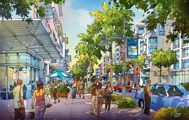 Street level rendering