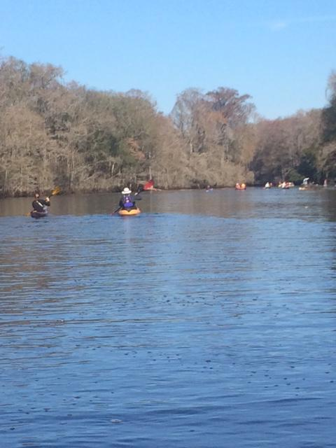 "Kayakers on the Withlacoochee River ""Trail Mixer"""