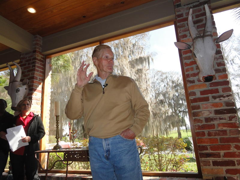U.S. Sen. Bill Nelson helps kick off the event at Creek Ranch in Polk County