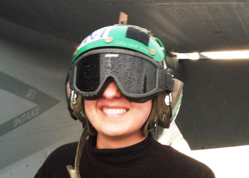Navy AM3 Jessica Clayton is an airframe structural mechanic 3rd class.
