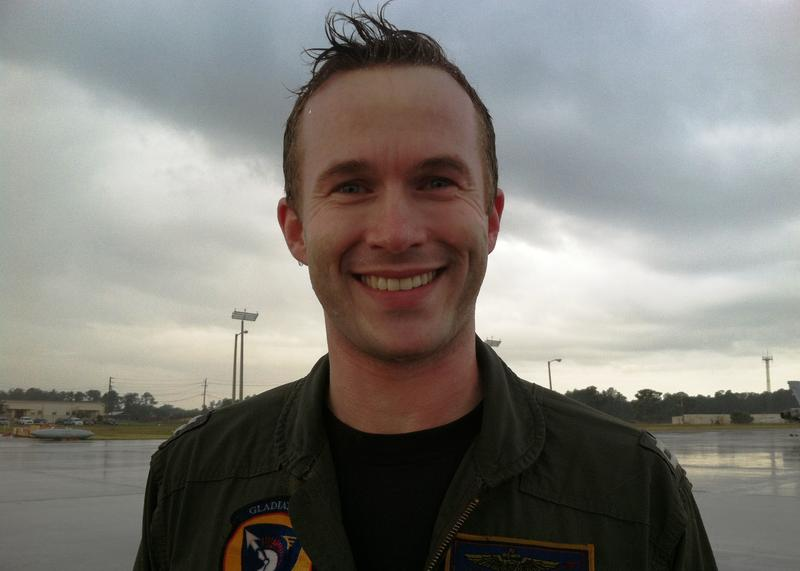 Navy Lt. Nate Miller was in charge of the training exercises and 190 Navy personnel visiting from Oceana Naval Air Station, Virginia.