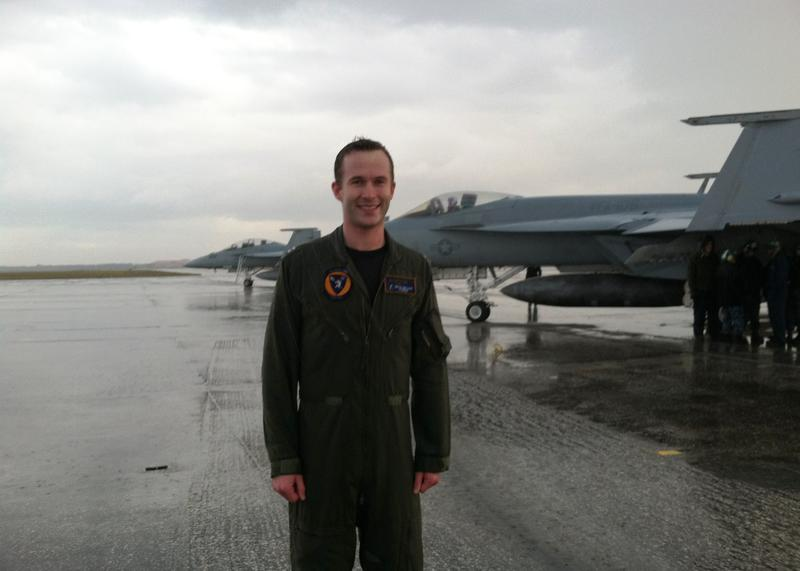 Navy Lt. Nate Miller has served three tours providing combat air support in Afghanistan.