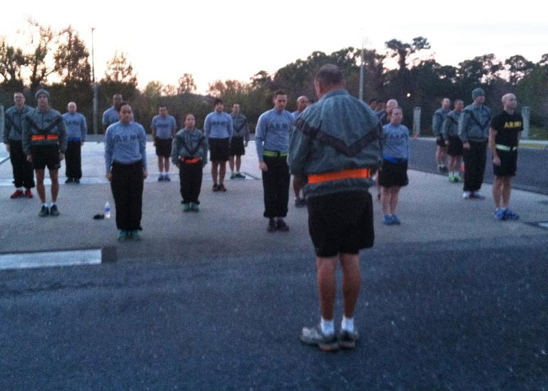 SSG Aidana Baez and other active guard reserve membes participate in PT (Physical Training) three times a week.