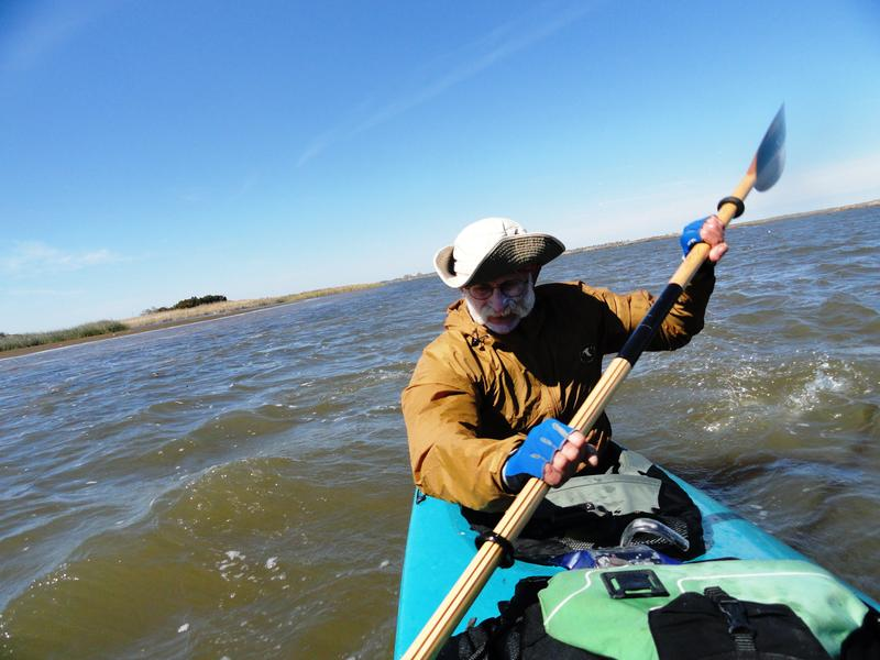 David Morse of Apalachicola Riverkeeper paddles away