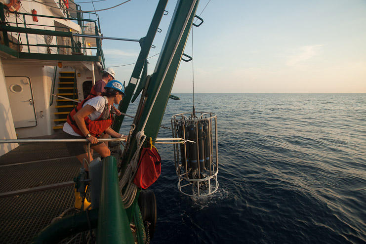 Scientists deploy another set of instruments to measure chemical traces and other information.
