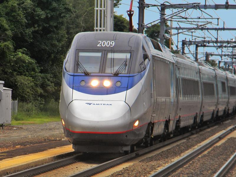Acela Express train at Old Saybrook, Connecticut