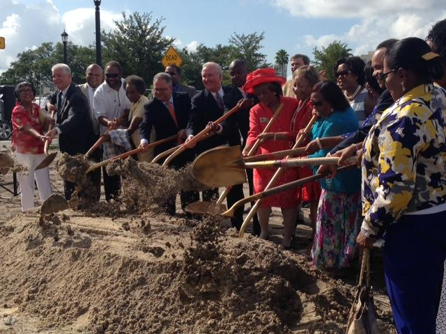 Local Tampa leaders gathered for a groundbreaking at Perry Harvey Senior Park in downtown.