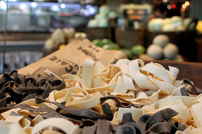 Freshly made pasta at Locale Market, as seen through the lens of USFSP student Anna Stebbins.