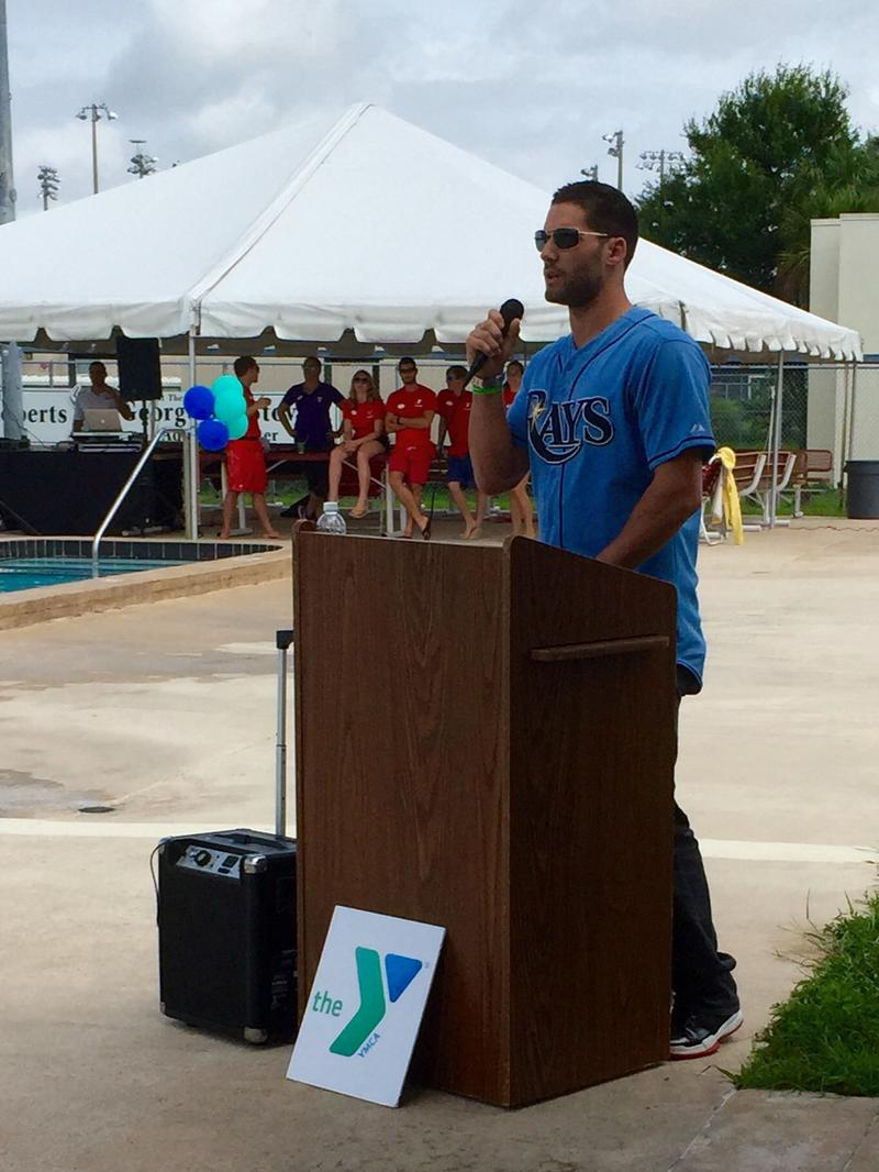Kiermaier congratulated swimmers for their success and talked about the importance of the program in Florida, the state with the most drowning deaths of children under five.