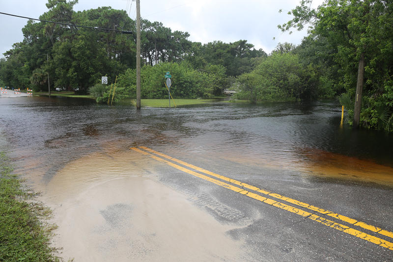 An evactuation order was issued for Elfers and barriers were set up to block public access to flooded roads to prevent more people from getting their vehicles stuck in high water.