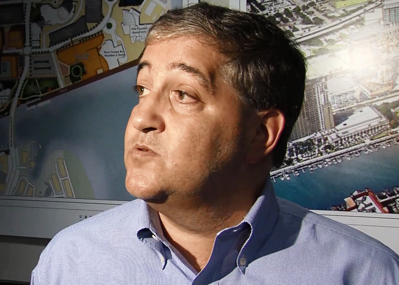 Lightning Chairman and Governor Jeff Vinik talking to reporters about losing his top executive to the NFL.