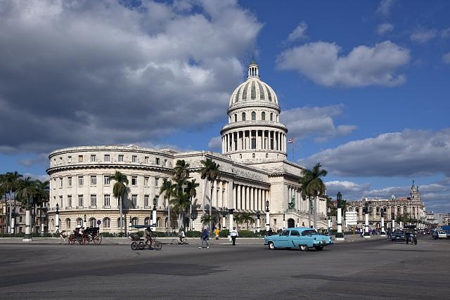 The Havana Capitol was built from April 1, 1926-1929 and cost 17 million pesos. After the Revolution in 1959, the Capitol became the headquarters of the Academy of Sciences of Cuba and then the Ministry of Science, Technology and Environment.