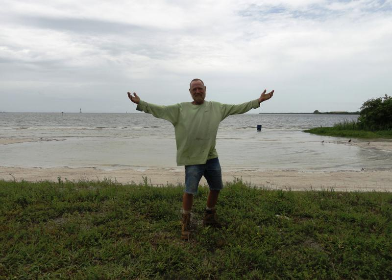 Sean McDaniel finds Gandy Beach more relaxing than the Gulf beaches that are crowded and it's a hassle to find and pay for parking.