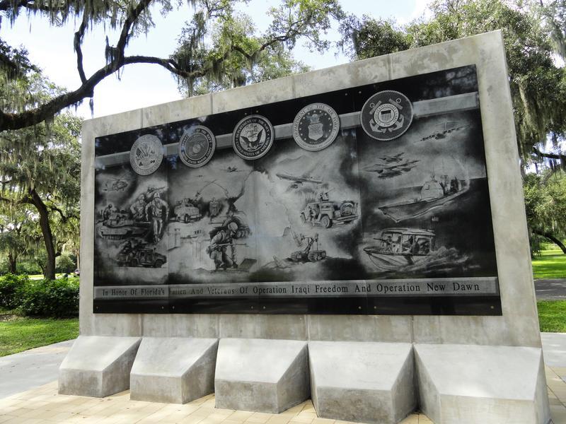 Part of the Iraq War Memorial.