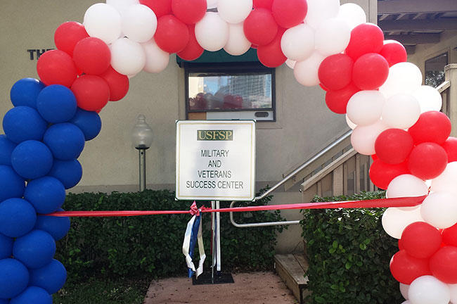 A ribbon-cutting ceremony for the USFSP Military & Veterans Success Center on Nov. 10th.