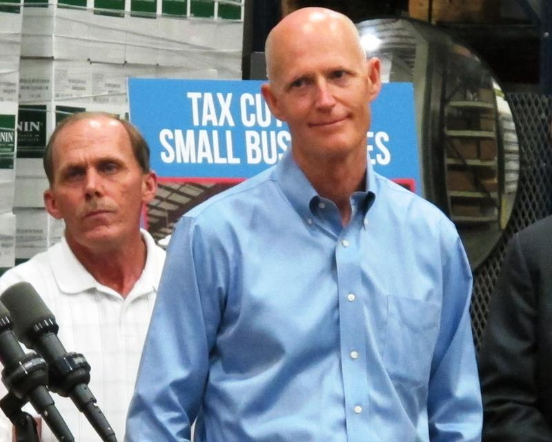 Gov. Scott in Clearwater earlier this month