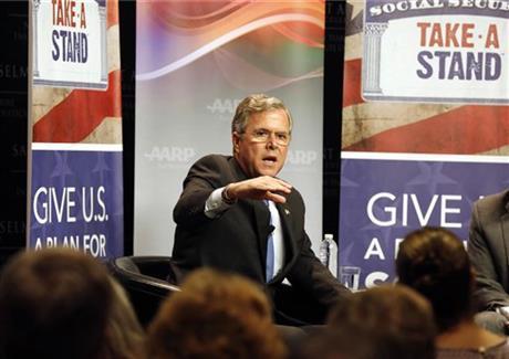Republican presidential candidate former Florida Gov. Jeb Bush speaks in Manchester, NH, last week.