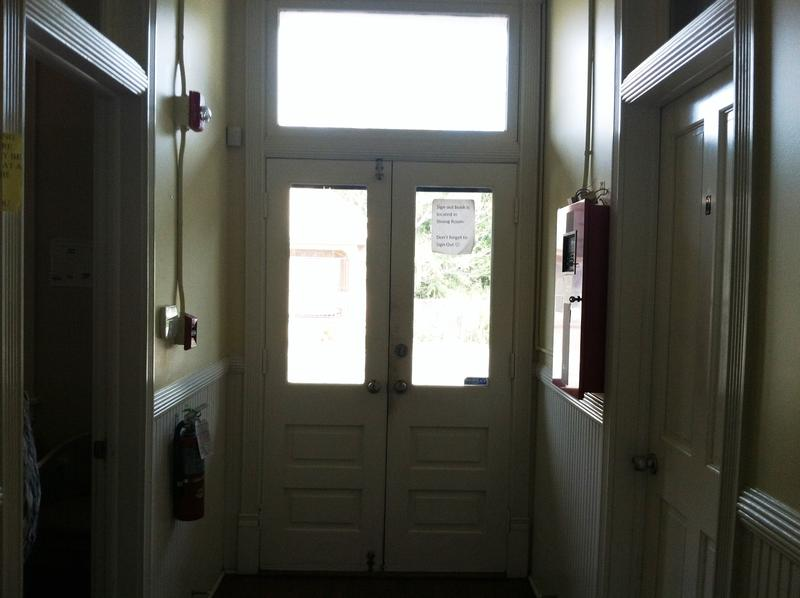 The doors to Athena House remain locked 24/7 to protect the residents.