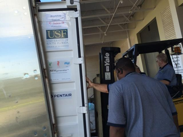 It took almost two months to ship the 4,000 pounds of the NEWgenerator and extra equipment from Tampa to India.
