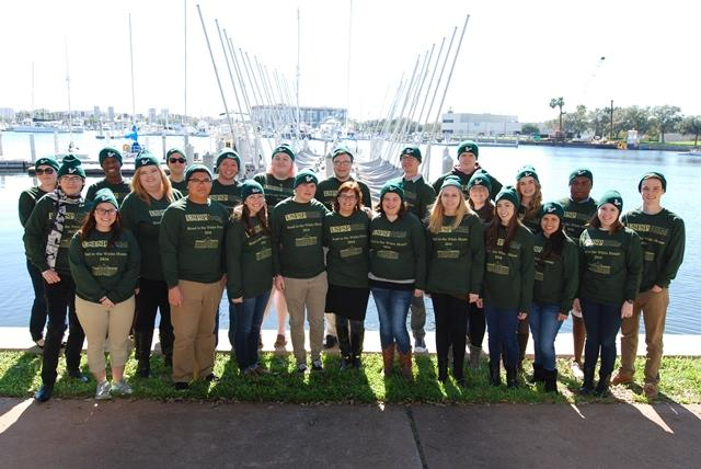 "The 2016 ""Road to the White House"" class poses by the USF St. Petersburg waterfront."