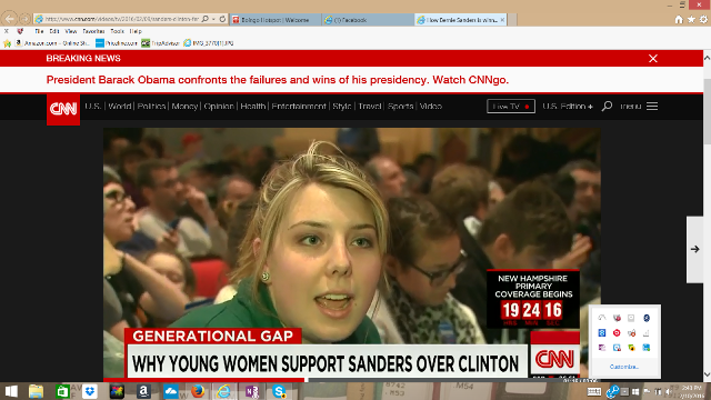 The students were interviewed by media from all over the world. Sanders backer Emily Thatcher spoke to CNN.