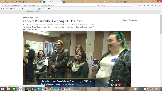 CSPAN also spoke to the students volunteering for Sanders.