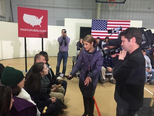 A Miami TV station spoke to the students at a Marco Rubio rally.