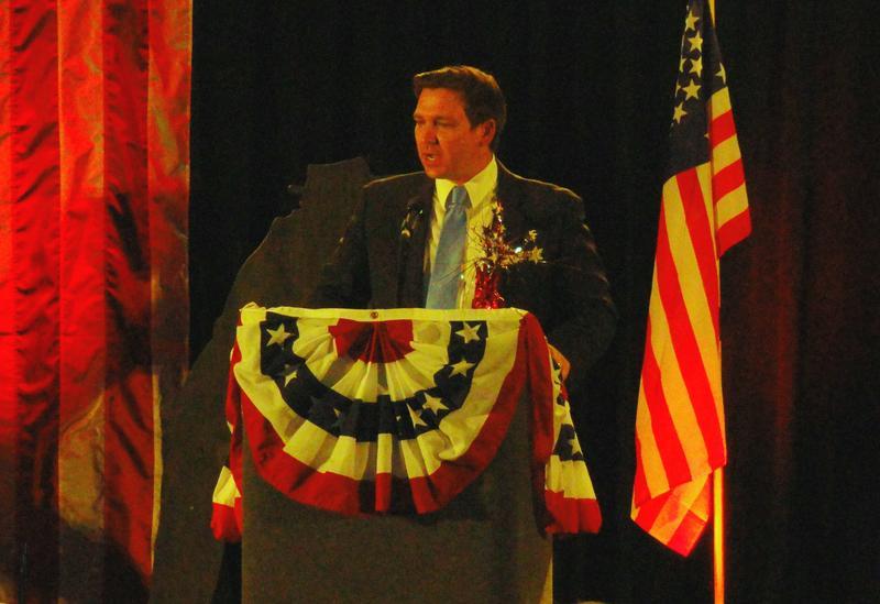 Florida Gov.-elect Ron DeSantis, seen in an 2018 photo, cancelled Tuesday's inaugural parade.