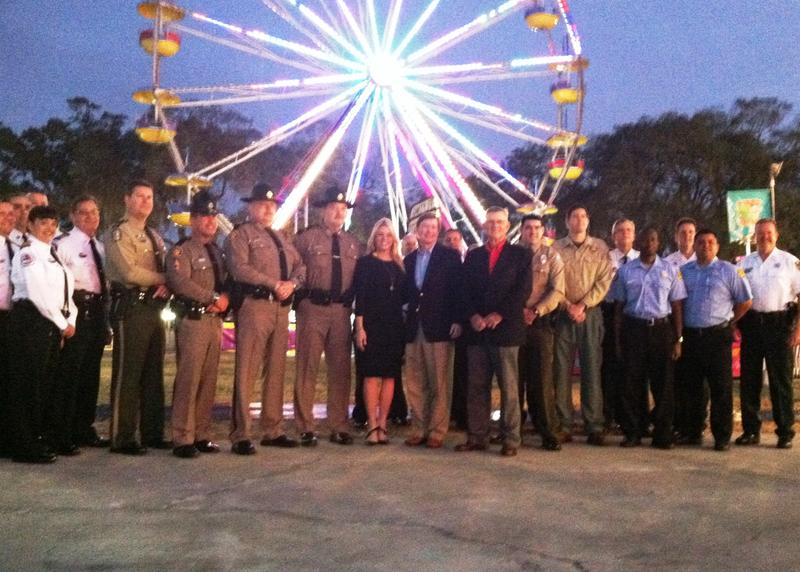 Law enforcement and first responders got free admission on the first day of the Florida State Fair.